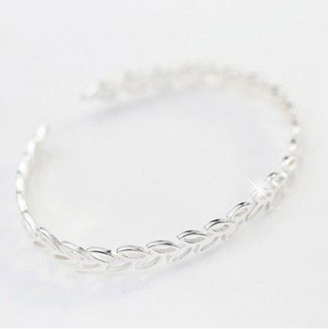 Latest Leaf Hollow Out Opening Bracelet