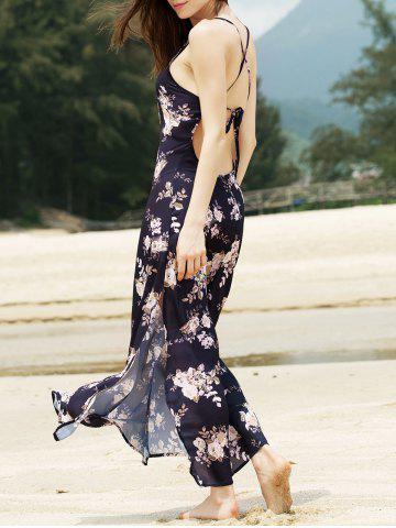 New Criss Cross Backless Floral Bohemian Swing Dress