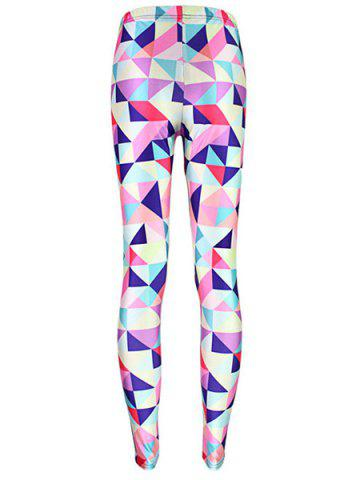 Online Fashionable Geometric Printed High Elasticity Skinny Leggings For Women - ONE SIZE(FIT SIZE XS TO M) COLORMIX Mobile