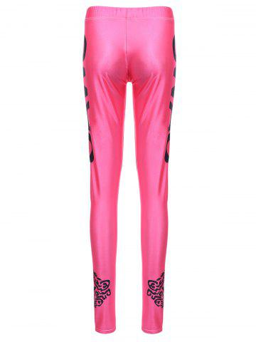 Chic Sports Elastic Waist Letter Print Slimming Women's Leggings - ONE SIZE(FIT SIZE XS TO M) ROSE Mobile