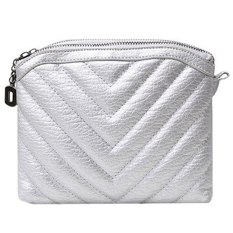 Fancy Trendy Solid Colour and Stitching Design Crossbody Bag For Women