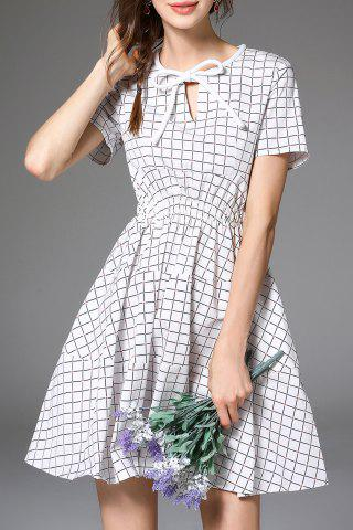 Buy Fit and Flare Checked Cotton Dress