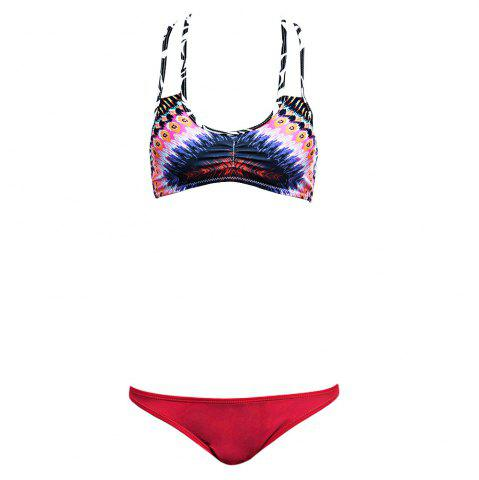 Outfit Stripe Colormix String Bikini Set