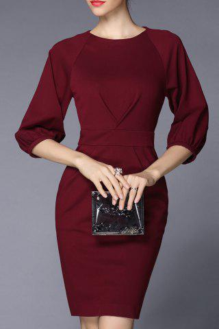Outfit Lantern Sleeve Sheath Work Dress