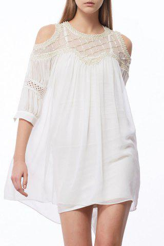 Hot Faux Pearl Beaded Dress