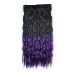 Fluffy Corn Hot Curly Clip On Capless Ombre Color Long Synthetic Hair Extension For Women -