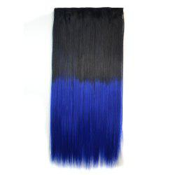 Fashion Long Silky Straight Ombre Color Clip In Capless Hair Extension For Women -