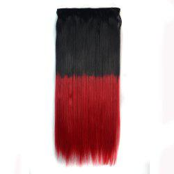 Fashion Silky Straight Ombre Color Clip In Capless Hair Extension For Women