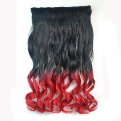 Fashion Long Capless Ombre Color Fluffy Wavy Clip In Synthetic Hair Extension For Women -
