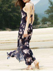 Criss Cross Backless Floral Bohemian Swing Dress