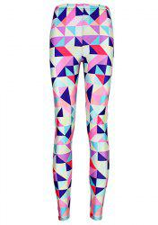Fashionable Geometric Printed High Elasticity Skinny Leggings For Women - COLORMIX ONE SIZE(FIT SIZE XS TO M)