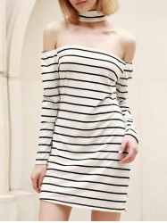 Long Sleeve Striped Bodycon Casual Dress -