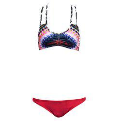 Stripe Colormix String Bikini Set