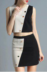 Crop Top and Mini Skirt Twinset -