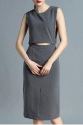 Crop Top and Skirt Twinset -