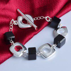 Simple Hollow Out Geometric Charm Bracelet