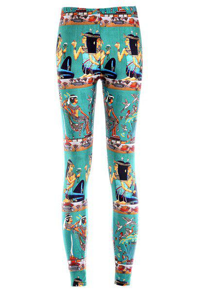 Retro Style Printed High Elasticity Leggings Women ONE SIZE(FIT SIZE XS TO M)