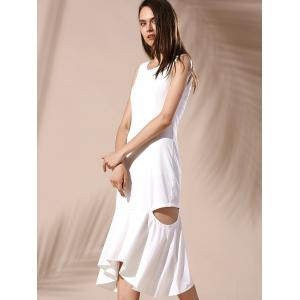 Hollow Out Mermaid Dress - WHITE S