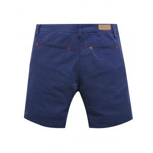 Casual Zip Fly Summer Solid Color Shorts For Men -