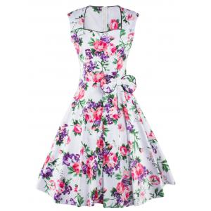 Tea Length Vintage Swing Dress