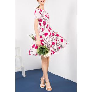 Pleated Floral Dress -