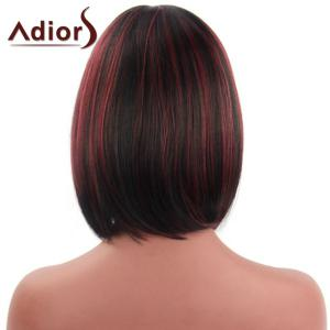 Bob Style Straight Capless Fashion Short Side Bang Synthetic Adiors Wig For Women -