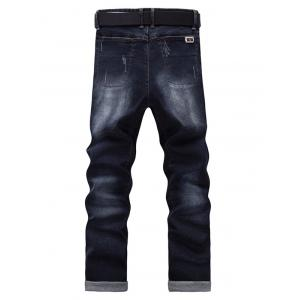 Men's Fashion Zip Fly Straight Legs Cropped Jeans -