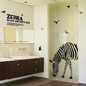 Letters and Zebra Removeable Wall Stickers Animals -