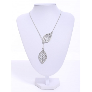 Stylish Women's Openwork Leaf Pendant Necklace