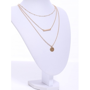 Trendy Solid Color Multi-Layered Women's Necklace -