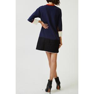Hit Color Spliced Dress -
