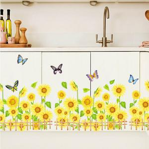 Sunflower Pattern Removeable Wall Stickers For Kids Room -