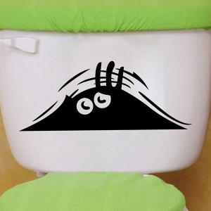 Eye Pattern Toilet Wall Art Stickers Home Decoration