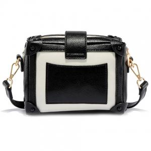 Vintage Color Block and Hasp Design Crossbody Bag For Women -