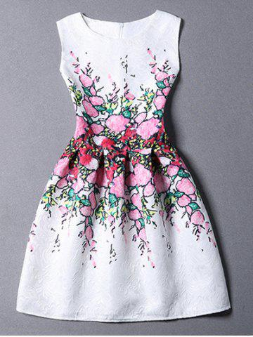 Best Stylish Jewel Neck Sleeveless Floral Dress For Women