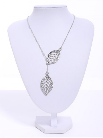 Buy Stylish Women's Openwork Leaf Pendant Necklace COLOR ASSORTED