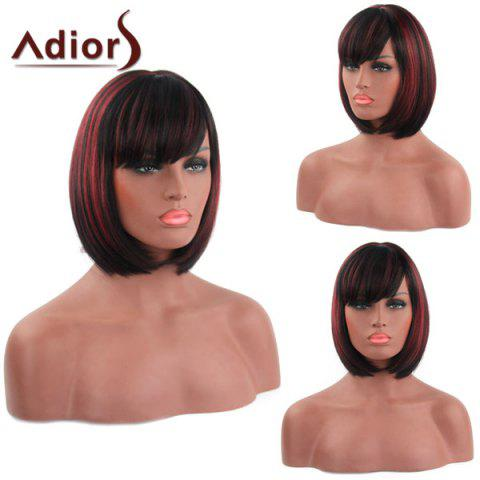 Buy Bob Style Straight Capless Fashion Short Side Bang Synthetic Adiors Wig For Women