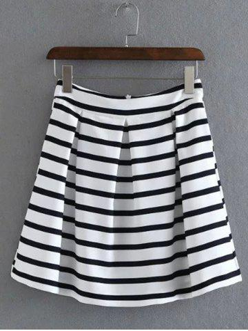 Outfit Short Stripe A Line Skirt