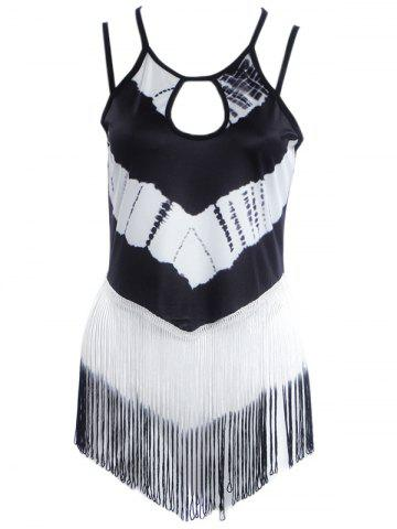 Sale Fringed Striped Strappy Tank Top