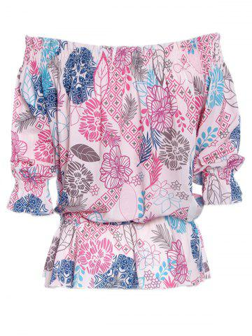Buy Simple Style Women's Off The Shoulder Print Blouse