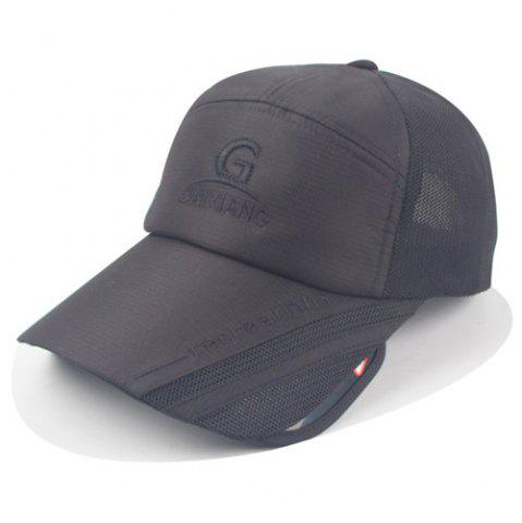 Trendy Stylish Letters Embroidery Wide Brim Cool Summer Baseball Cap For Men