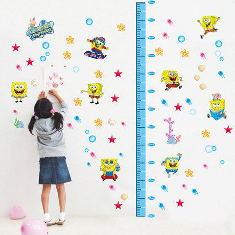 Shop DIY Spongebob Height Measurement Cartoon Wall Stickers For Children