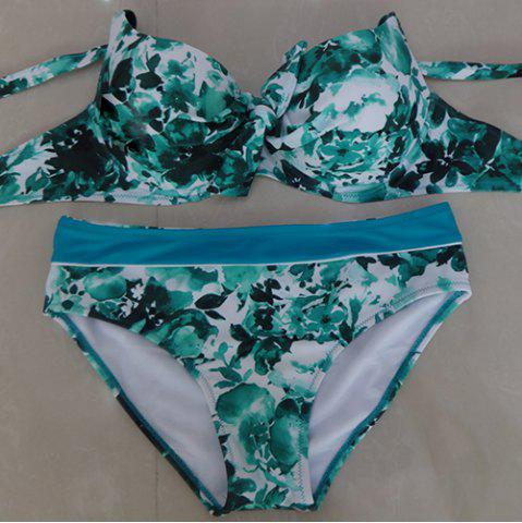 Outfits Push Up Floral Underwire Bikini Set
