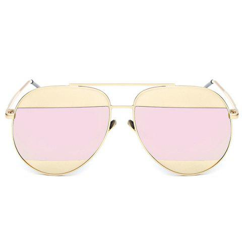 Latest Stylish Two Color Match Lenses Hipsters Sunglasses For Unisex Aviator - PINK  Mobile
