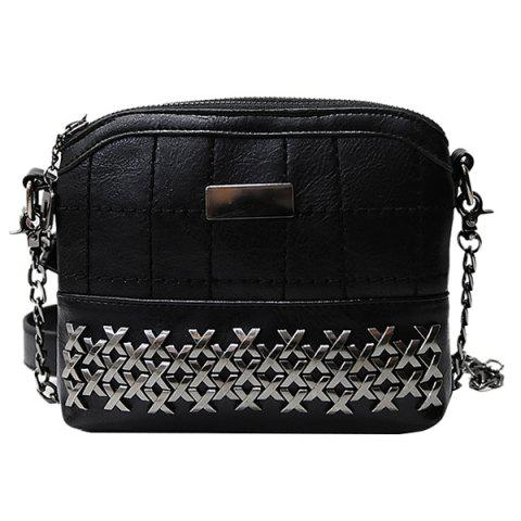 Buy Simple Metal and Chain Design Crossbody Bag For Women