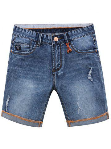 Trendy Trendy Summer Zip Fly Loose Denim Shorts