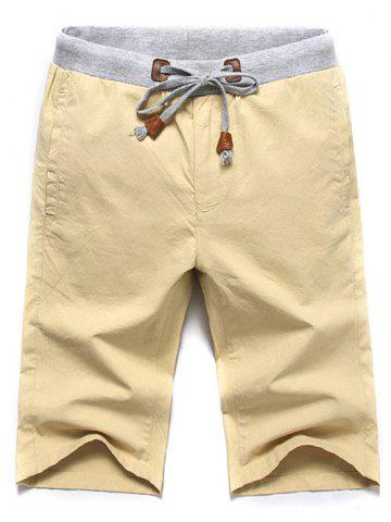 Outfits Casual Lace Up Summer Solid Color Shorts For Men