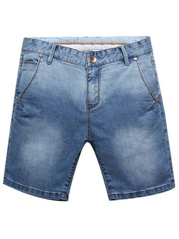 Store Casual Summer Zip Fly Denim Shorts For Men