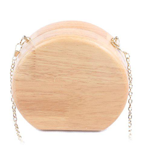 Shops Concise Wooden and Chains Design Evening Bag For Women