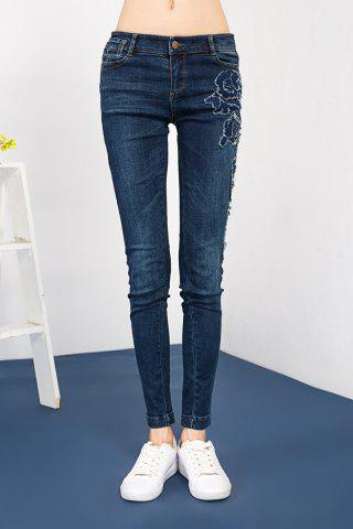 Hot Embroidered Sheath Jeans